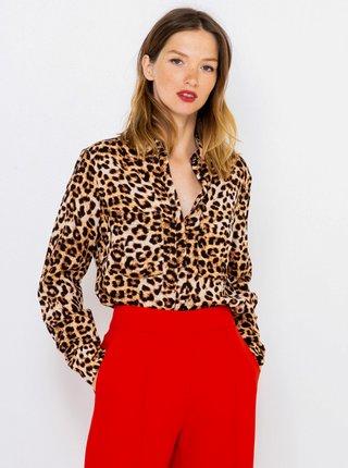 Béžová košeľa s leopardím vzorom CAMAIEU