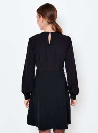 Čierne košeľové šaty CAMAIEU