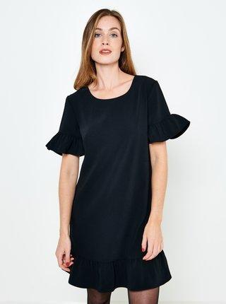 Černé šaty s volánem CAMAIEU