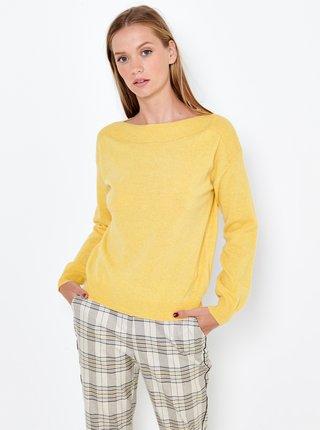 Žlutý lněný svetr s příměsí kašmíru CAMAIEU