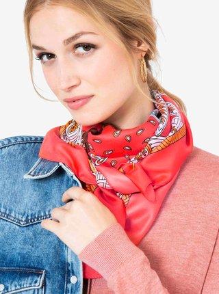 Červený vzorovaný šátek CAMAIEU
