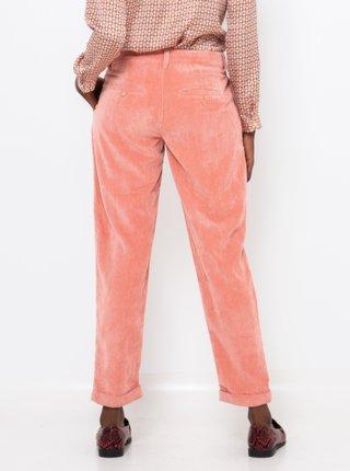 Ružové menčestrové skrátené nohavice CAMAIEU