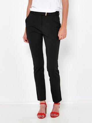 Černe slim fit kalhoty CAMAIEU