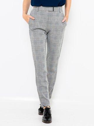 Světle šedé kostkované kalhoty CAMAIEU