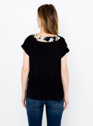 Černá květovaná halenka CAMAIEU