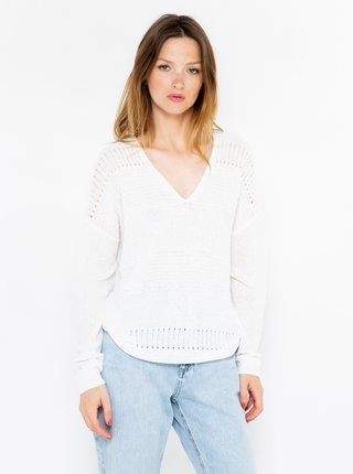 Bílý svetr CAMAIEU