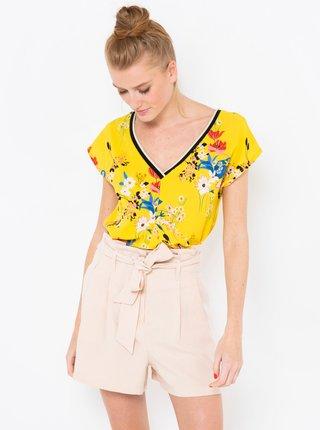 Žlutá květovaná halenka CAMAIEU
