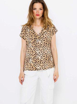 Béžová blúzka s gepardím vzorem CAMAIEU
