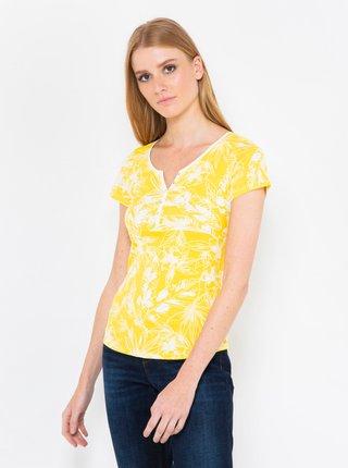 Žluté květované tričko CAMAIEU