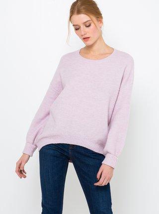 Svetlofialový ľahký sveter s prímesou vlny z alpaky CAMAIEU