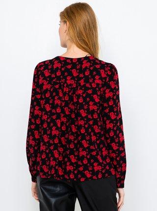 Červeno-černá květovaná halenka CAMAIEU