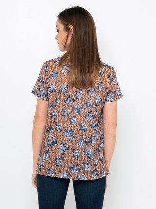 Hnědé vzorované tričko CAMAIEU
