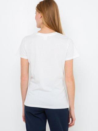Bílé tričko s potiskem CAMAIEU