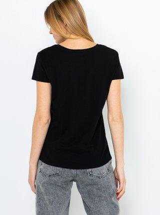 Čierne tričko s potlačou CAMAIEU