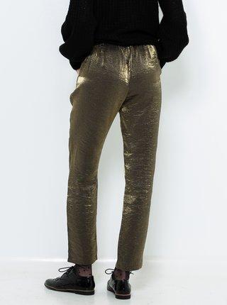 Zelené lesklé kalhoty CAMAIEU