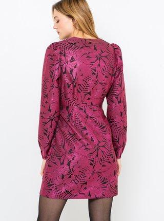 Fialové vzorované šaty CAMAIEU