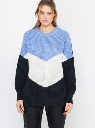 Modro-čierny sveter CAMAIEU