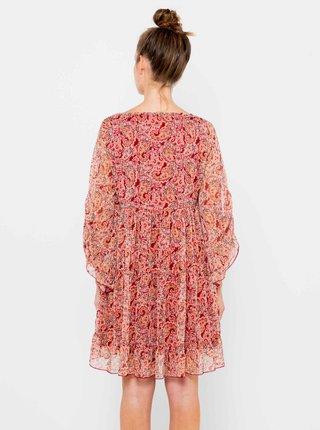 Ružové vzorované šaty CAMAIEU