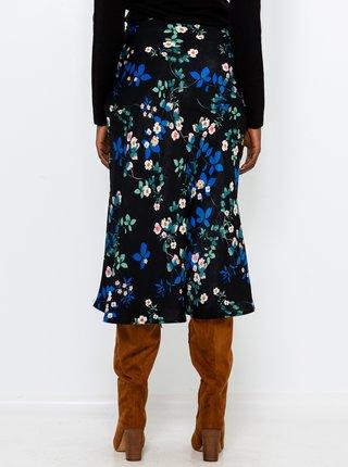 Černá květovaná sukně CAMAIEU