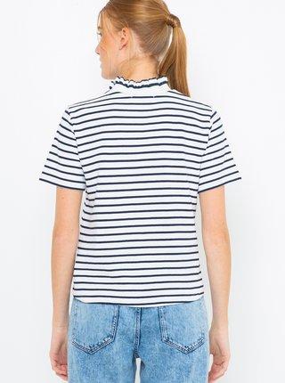 Bílé pruhované tričko CAMAIEU
