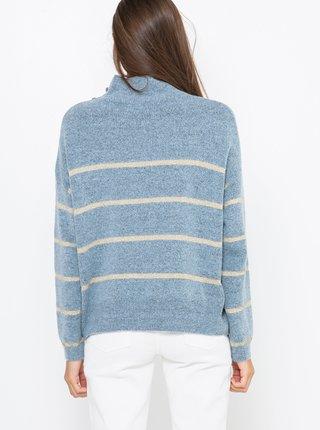 Modrý svetr s příměsí vlny z Alpaky CAMAIEU