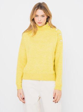 Žlutý svetr s příměsí vlny z Alpaky CAMAIEU