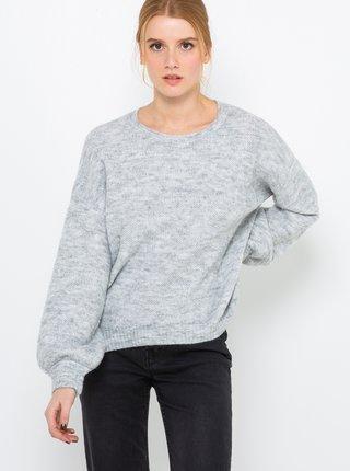 Svetlošedý sveter s prímesou vlny z alpaky CAMAIEU