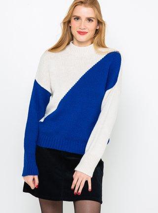 Modro-bílá svetr CAMAIEU