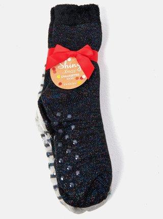 Sada dvoch páorv ponožiek v šedej a čiernej farbe CAMAIEU