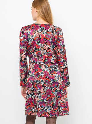 Čierne kvetované šaty CAMAIEUA