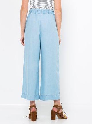 Světle modré široké kalhoty CAMAIEU