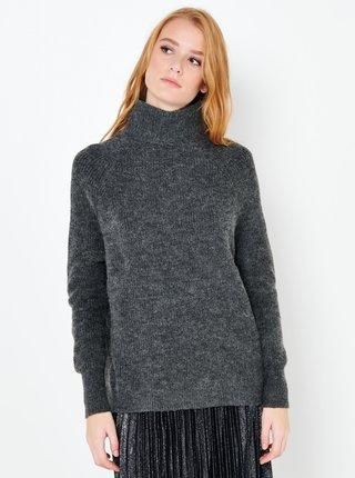 Tmavě šedý svetr s příměsí vlny z Alpaky CAMAIEU