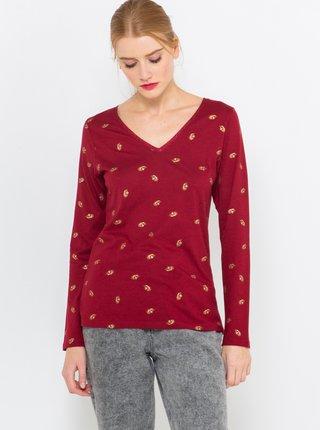 Červené vzorované tričko CAMAIEU