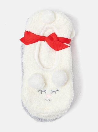 Sada dvou párů nízkých ponožek v šedé a bílé barvě CAMAIEU