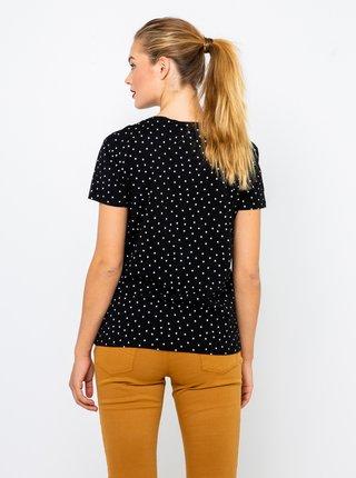 Čierne bodkované tričko CAMAIEU