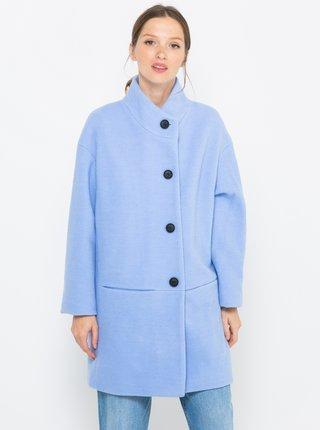 Svetlomodrý kabát s prímesou vlny CAMAIEU