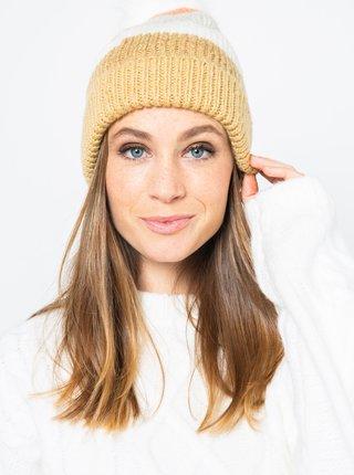 Bielo-hnedá čiapka CAMAIEU