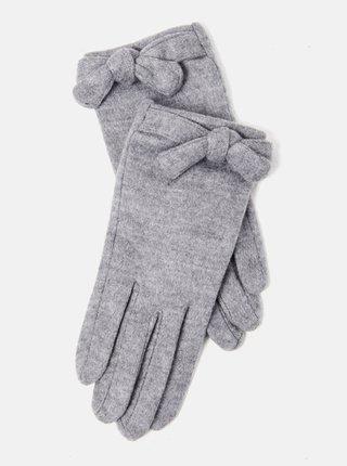 Šedé rukavice s mašľou CAMAIEU