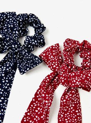 Sada dvou vzorovaných gumiček v červené a modré barvě CAMAIEU
