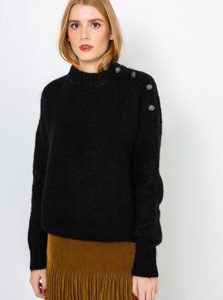 Černý vlněný svetr CAMAIEU