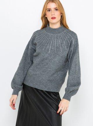 Tmavě šedý svetr CAMAIEU