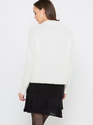 Bílý vlněný svetr CAMAIEU