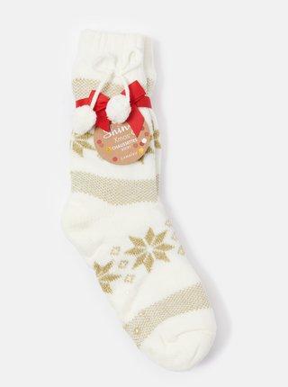 Krémové vzorované ponožky CAMAIEU
