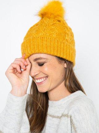 Žltá čiapka CAMAIEU