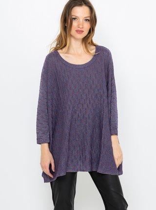Fialový lehký volný svetr CAMAIEU