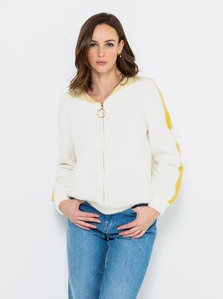 Biely sveter s kapucí CAMAIEU