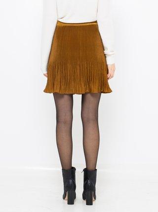 Hořčicová sametová sukně CAMAIEU