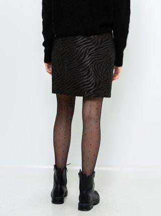 Černá vzorovaná sukně CAMAIEU