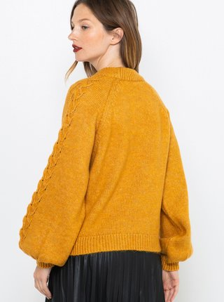 Horčicový sveter CAMAIEU