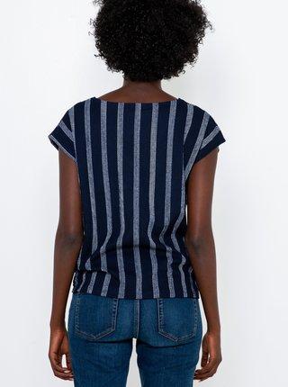 Tmavomodré pruhované tričko CAMAIEU